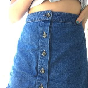 Denim Blue Jean Skirt
